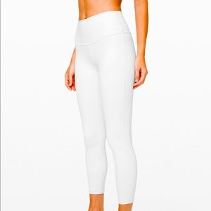 brand new! Lululemon white leggings